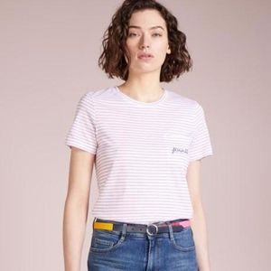 Club Monaco striped Leary embroidered pocket tee S